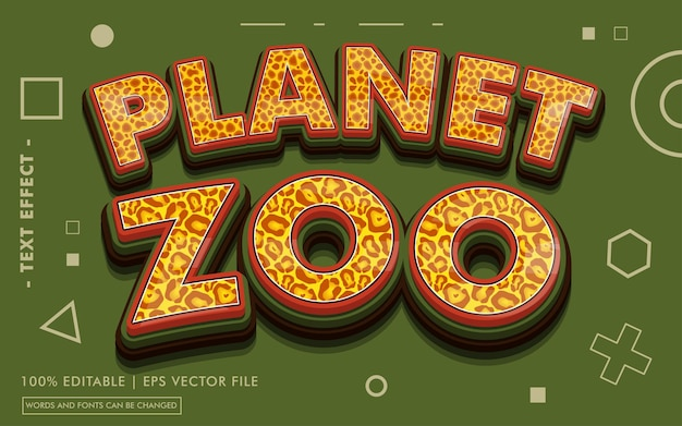 Planet zoo 텍스트 효과 스타일