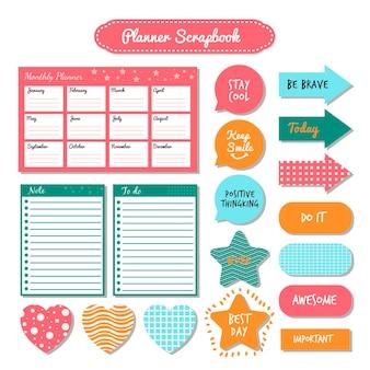 Planner scrapbook pack