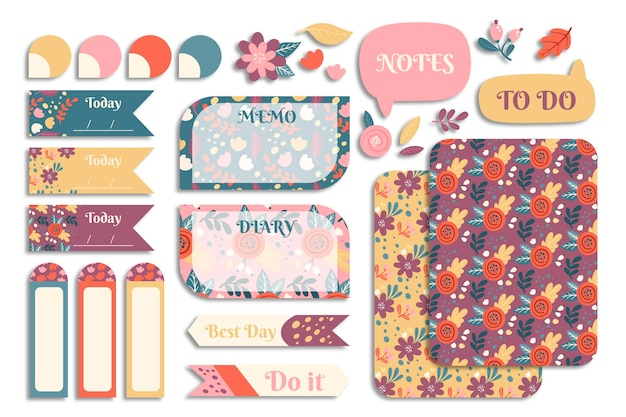 Planner scrapbook set collection