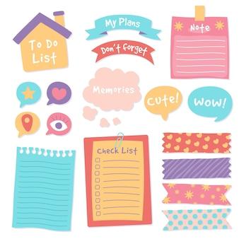 Planner scrapbook set