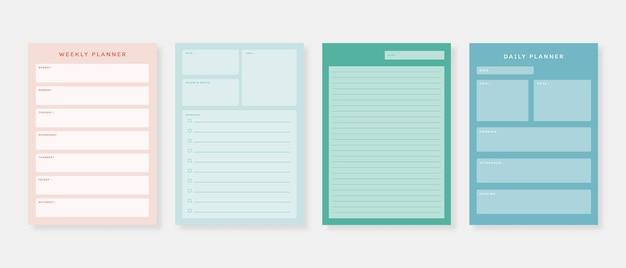 Набор шаблонов планировщика. набор планировщика и список дел