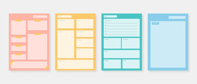 Planner template set. set of planner and to do list