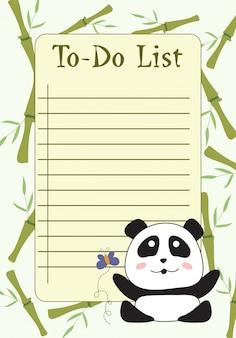 메모 및 할 일 목록이있는 플래너 템플릿, 구성자 및 일정.