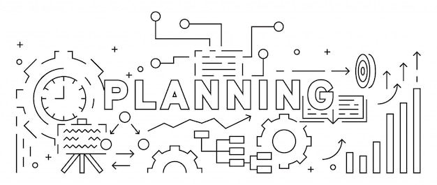 Planning and business strategy concept