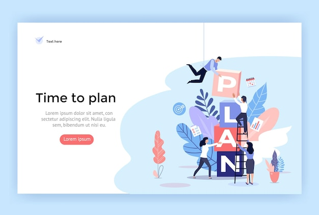 Planning concept illustration perfect for web design banner mobile app landing page