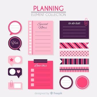 Raccolta di elementi di pianificazione