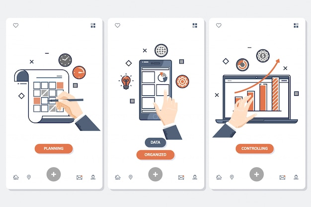 Planning and organizing app template set