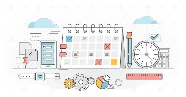 Planning outline concept illustration