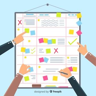 Planning schedule concept