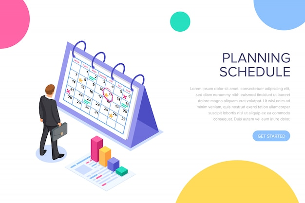 Planning schedule landing page