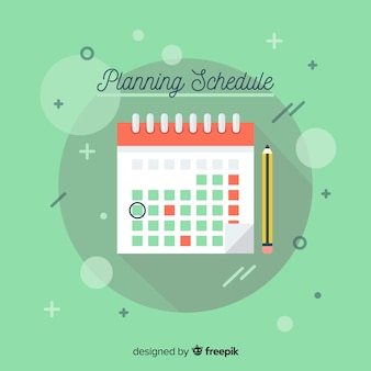 Planning schedule template