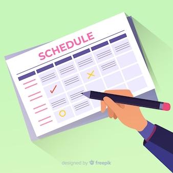 Planning schedule template