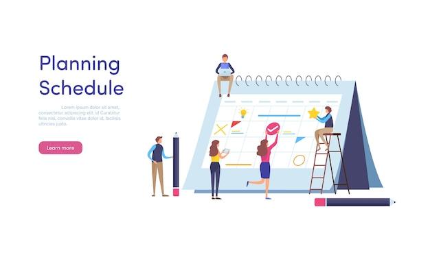 Planning schedule.