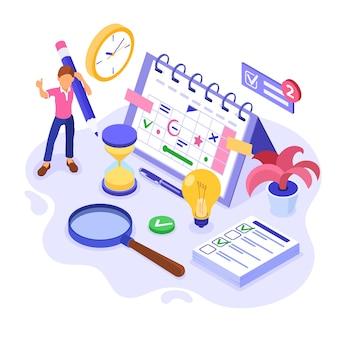 計画小屋の時間管理と計画