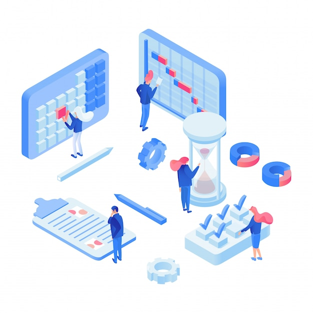 Planning time experts isometric