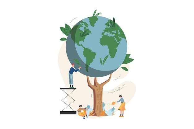 지구를 구하기 위해 나무를 심 으세요