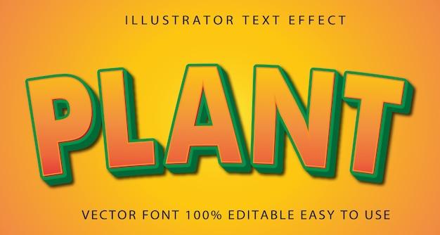 Plant  editable text effect