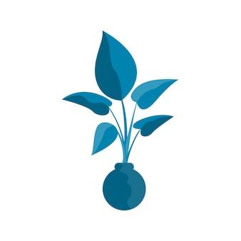 디자인 아이 티셔츠 인쇄 또는 포스터 디자인을 위한 식물 ib 꽃병 냄비 낙서 요소.