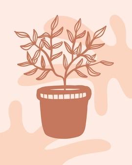 보육 포스터에 대한 냄비 boho 미니멀리스트 포스터에 식물