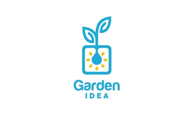 식물 혁신 로고 디자인 영감