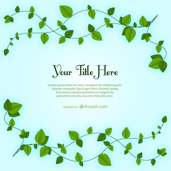 Plant leaves template