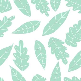 야자수 잎과 가지와 식물 패턴 원활한 패턴 주식 벡터 열대 그림