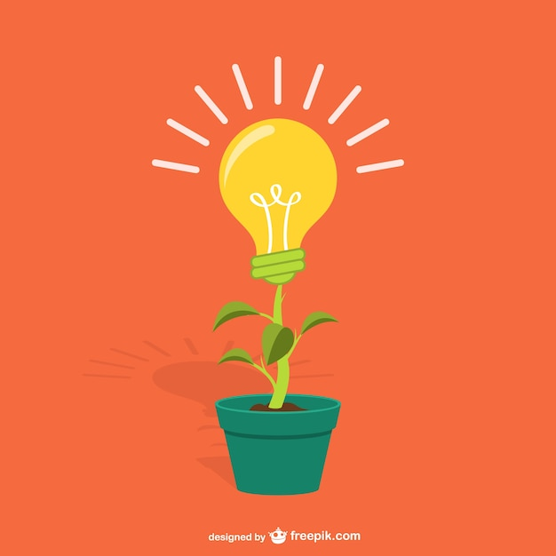 Free Plant With Lightbulb Cartoon Vector Free Design Svg Free Cricut And Silhouette Cut Files