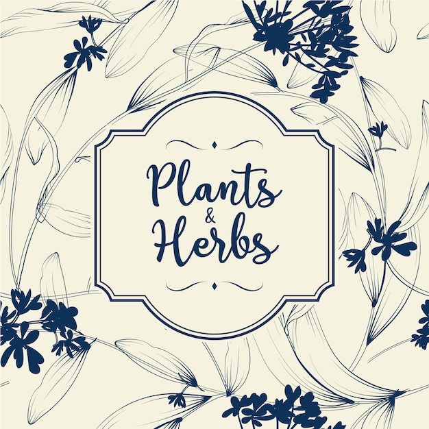 Free Plants And Herbs Background Element For Design Or