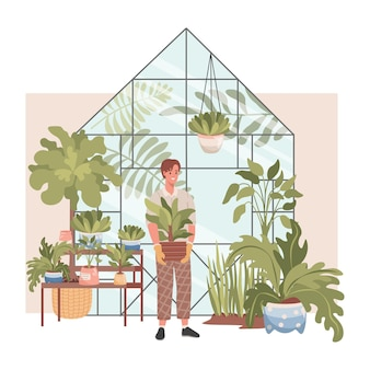 植物店のインテリア