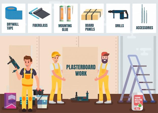 Plasterboard work service online store