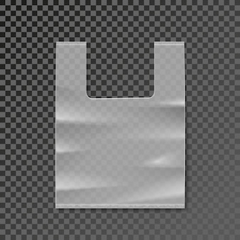 Plastic bag blank template