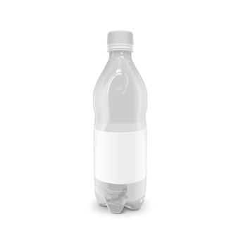 Пластиковая бутылка для напитков с пустой этикеткой