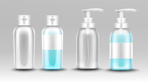 액체 비누를위한 분배기 펌프를 가진 플라스틱 병