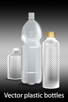 Plastic bottle with mineral water on alpha transparent.
