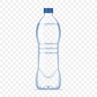 Plastic bottle with mineral water