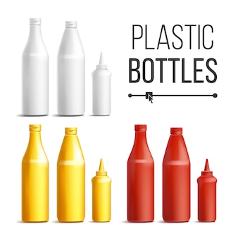 Plastic bottles for sauces