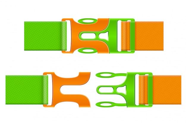 Plastic buckle clasp vector illustration