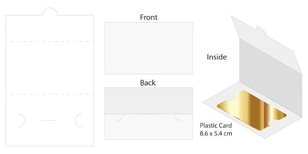 Plastic card envelope die-cut template mockup