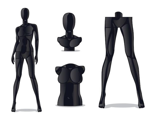 Plastic female mannequin.