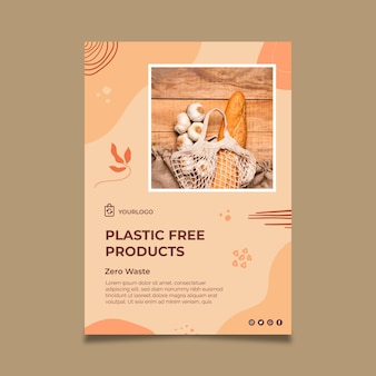 Plastic free products poster template