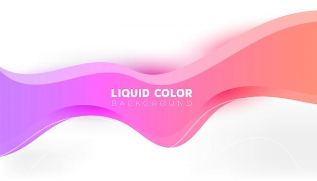 Plastic liquid gradient waves background