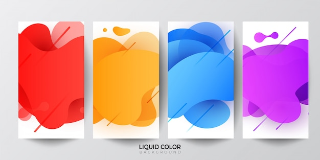 Plastic liquid gradient waves sale banner template