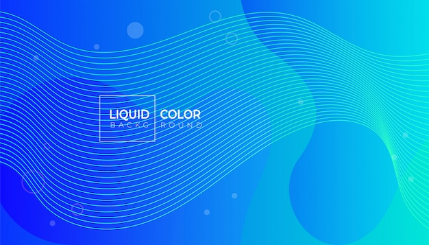 Plastic liquid waves banner template.