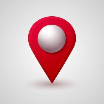 빛나는 유리 거품 3d 스타일이 있는 플라스틱 지도 위치 포인터