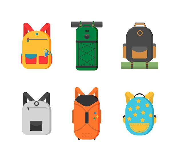 Пластиковые, металлические чемоданы, рюкзаки, сумки для багажа. различные виды багажа. большой и маленький чемодан, ручная кладь, рюкзак, ящик, сумочка.