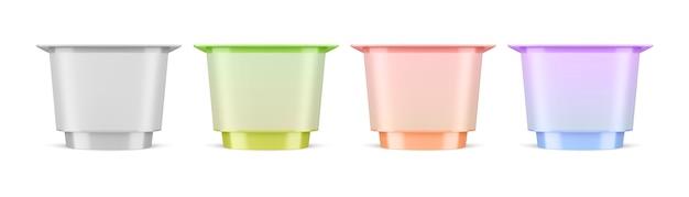 Plastic packaging for yogurt