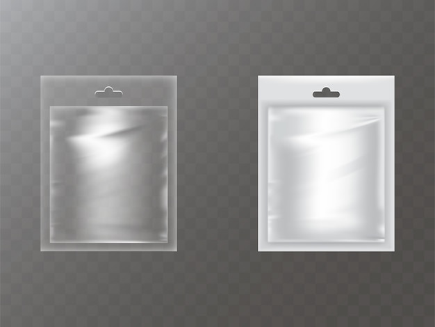 Plastic packets with hand hole realistic