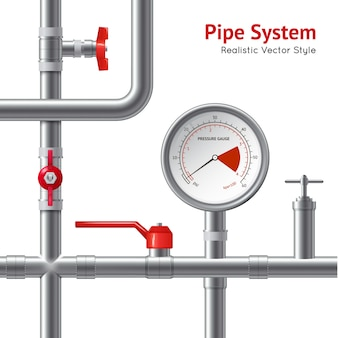 Plastic pipe system background