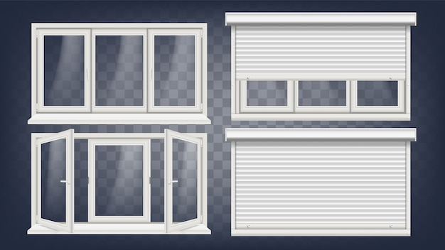 Plastic pvc window