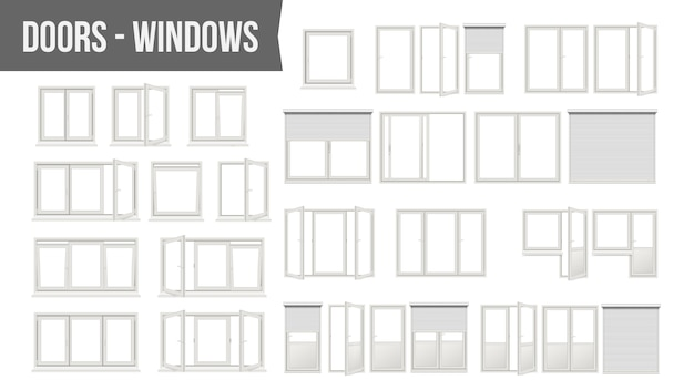 Plastic pvc windows doors set